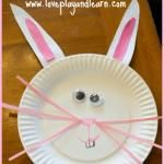 {Easter Craft} Paper Plate Easter Bunny