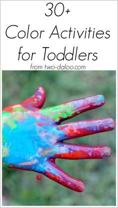 30+ activities for exploring color with toddlers from Twodaloo