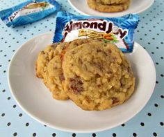 Almond Joy Pudding Cookies - uses instant coconut cream pudding mix, have to find! Just Desserts, Delicious Desserts, Yummy Food, Cookie Recipes, Dessert Recipes, Candy Recipes, Fun Recipes, Cookie Ideas, Almond Joy Cookies