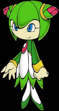 cosmo the seedrian, she's my favorite character off of Sonic X, even if she does die in the end...