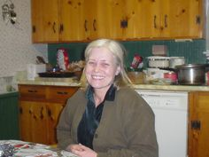 pic 91g.  Tired me.  All that wrapping the night before and then cooking the turkey the next day.  Tired but happy. 2004