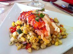 Saffron Butter Poached Lobster over Summer Corn Salad. lobster: http ...