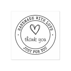 Handmade With Love Product Stamp Logo Design Love, Cake Logo Design, Love Logo, Craft Logo, Diy Organizer, Bakery Logo, Love Stamps, Personalized Stickers, Wood Stamp
