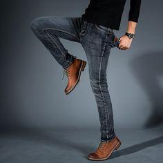 Mens Jogger Pants, Slim Pants, Jeans Pants, Cargo Jeans, Trousers, Biker Jeans Men, Hip Hop, Baggy, Summer Denim