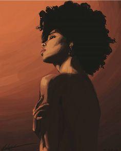 Black Art Painting Woman Drawings 67 Ideas For 2019 Black Love Art, Black Girl Art, Black Is Beautiful, Black Art Painting, Black Artwork, Painting Canvas, African American Art, African Art, Natural Hair Art