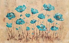 Angela Anderson Art Blog: Easy Palette Knife Poppies Acrylic Painting Tutorial
