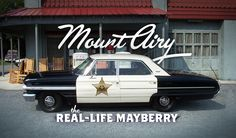 "Mayberry, the idyllic hometown made famous on ""The Andy Griffith Show,"" has long been considered a fictional place, but the real Mayberry does exist. The TV show town was based on Griffith's hometown of Mount Airy."