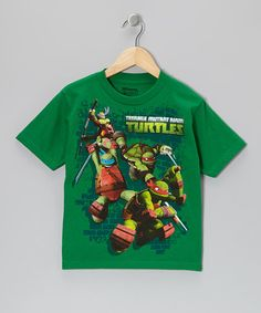Take a look at this Green TMNT Action Tee - Boys by Teenage Mutant Ninja Turtles on #zulily today!