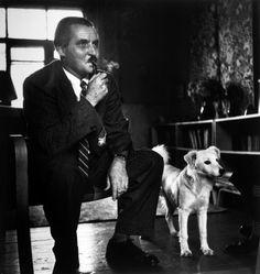Robert Capa - USSR. Moscow. August 1947. Russian poet and novelist, Konstantin SIMONOV.(Left)