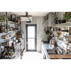 Self Renovation / counter shelf DIY / DIY / scaffolding plate / Rustic ... interior example of such - 2016-04-24 08:43:32 | RoomClip (Room clip)