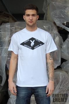 Death to All T-shirt in White - $16.00  www.anotherenemy.com Another Enemy