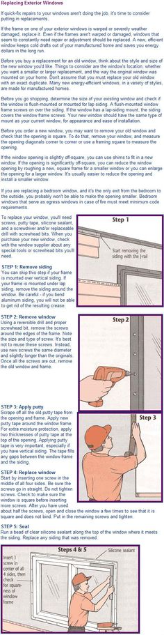 When it comes time to replace mobile home windows with metal cases,  this is a very good visual and well written tutorial.