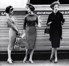 1950's fashion. The middle dress