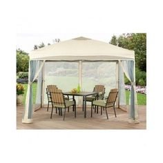 Pop-Up-Gazebo-Patio-Garden-Backyard-Porch-Outdoor-Party-Wedding-Screen-Net-Tent