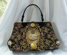 Vintage steam punk carpet bag purse antique by HopscotchCouture