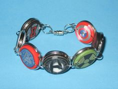 Avenger Bracelet made from Polymer Clay Cane Work