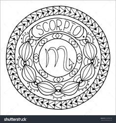 Zodiac Sign of Scorpio : Shutterstock 350998790