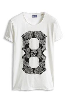 www.davidemartini.ink for Esprit / Jersey Print T-Shirt, 100% Baumwolle