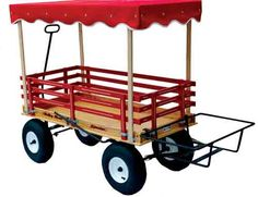"""VALLEY ROAD SPEEDER WAGON MODEL #1300, CANOPY, AND COOLER RACK. The model #1300 features a hand brake, a 24 """" x 48"""" bed size, 1,100 pound load capacity, choice of 9-ply Birch wood or polymer resin bed, and 13"""" diameter tires. All items sold separately."""