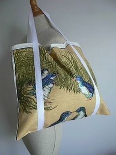 CurlyPops: Tutorials, Tea Towel Tote Bag