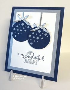 Confetti Stars Punch Art Ornament card from Flowerbug's Inkspot
