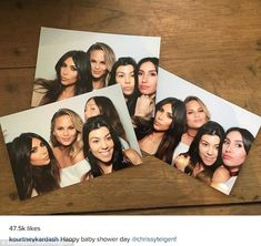 Expecting: Kourtney Kardashian posed with Chrissy Teigen, sister Kim Kardashian and hair s...