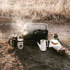 """""""Skillet sausages and @lacolombecoffee pressing this AM. That coffee was a LIFESAVER (and #SOGOOD). It was absolutely frigid this morning. ☕️ Any winter…"""""""