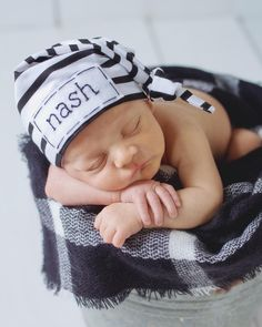add4b28ba45 name hats for newborns - knot hat - monogrammed hat - newborn baby  personalized gifts - hospital hat - personalized newborn hat