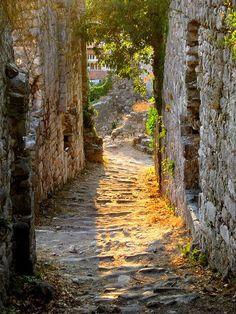 "bluepueblo: "" Ancient Passageway, Stari Bar, Montenegro photo via petit """