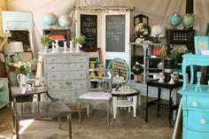 The Modern Cottage: Modern Cottage Company at Poppy and Co. small tables/chairs dresser to sell