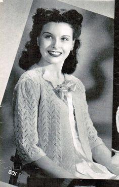 Women's Lacy Bed Jacket Crochet Pattern PDF / by CreeksideCharms, $2.65