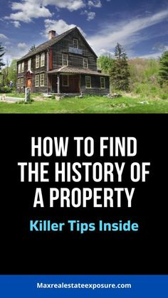 See how to find the history of properties both online and offline in the comprehensive article at Maximum Real Estate Exposure. When buying a home due diligence is essential. Real Estate Articles, Real Estate News, Find Property, Property Listing, Estate Homes, Home Buying, How To Find Out, Social Media, History