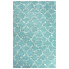 Jaipur Baroque Hampton Dusty Turquoise Hand Tufted Wool Rug #laylagrayce