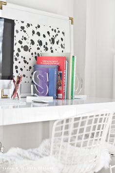 MichaelsMakers  sarah m. dorsey designs: Lucite Marble Bookends DIY