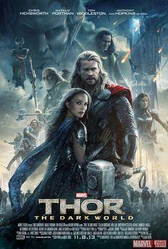El tiempo para la nueva aventura cinematográfica de Thor se acorta, y para ir calentando el ambiente, los estudios #Marvel presentaron el póster de la cinta, titulada #ThorTheDarkWorld.