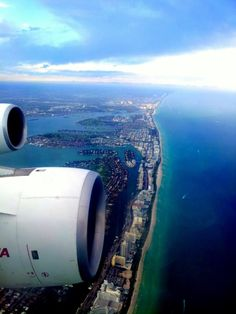 airplane-view, coastline