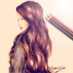 Kristina Webb Colored Pencil Drawing Portrait Artwork