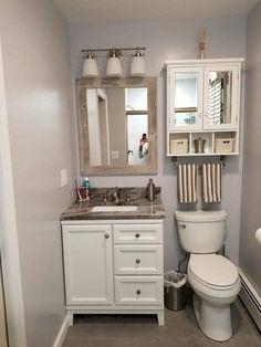 Bathroom decor for your master bathroom remodel. Learn master bathroom organization, bathroom decor ideas, bathroom tile suggestions, bathroom paint colors, and more. Lavabo Vintage, Barn Wood Frames, Bathroom Interior, Dyi Bathroom, Bathroom Cabinets, Neutral Bathroom, Bathroom Designs, Shiplap Bathroom, Bathroom Canvas