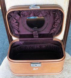 Skyway Train Case Mid Century Vintage Carmel by ChevyLovesLaura2