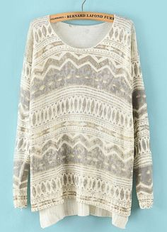 Cute patterned sweater.