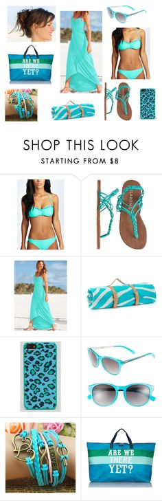 """""""Beach Plz II :)"""" by superkaci-gordon ❤ liked on Polyvore featuring Boohoo, Billabong, Victoria's Secret, Maslin & Co., Marc by Marc Jacobs and Tumi"""