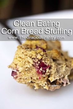 A delicious, Homemade Stuffing Recipe. Enjoy this delicious healthy, whole-food Thanksgiving Crouton Stuffing without the guilt! Homemade Stuffing, Stuffing Recipes, Cornbread Stuffing, Healthy Holiday Recipes, Whole Food Recipes, Snack Recipes, Yummy Recipes, Yummy Food, Tasty