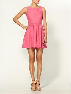 Lilly Pullitzer Hotty Pink Petal Pusher Lace Dress