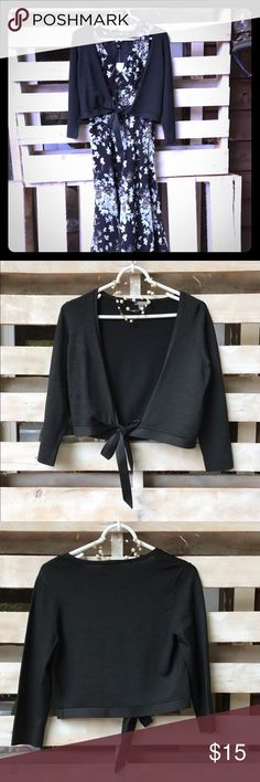 Black Ann Taylor shrug Black Ann Taylor shrug. Silk/nylon/spandex. Ann Taylor Sweaters