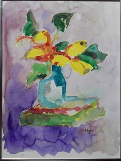 Karl M. Hausegger - Gelbe Tulpen - Aquarell - 2017 - 30x40 cm - Signiert Provenienz Atelier d. Künstlers Painting, Art, Atelier, Yellow Tulips, Watercolor, Craft Art, Paintings, Kunst, Gcse Art