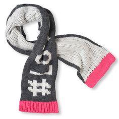 Girl's '#Love' Knit Scarf