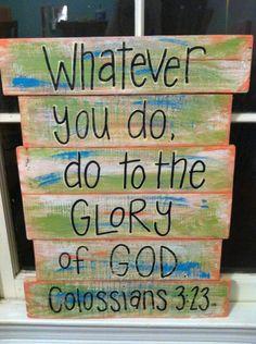 Pallet+Art++Bible+Verse+Glory+of+God+by+HollysHobbiesTN+on+Etsy,+$50.00