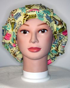 Here Kitty Kitty Bouffant Surgical Scrub Hat by duehringphotocc, $5.00