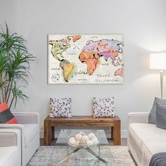 """East Urban Home Mapped Shorelines III Graphic Art on Wrapped Canvas Size: 8"""" H x 12"""" W x 0.75"""" D"""