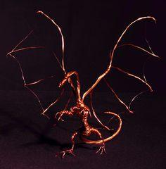 Copper wire dragon